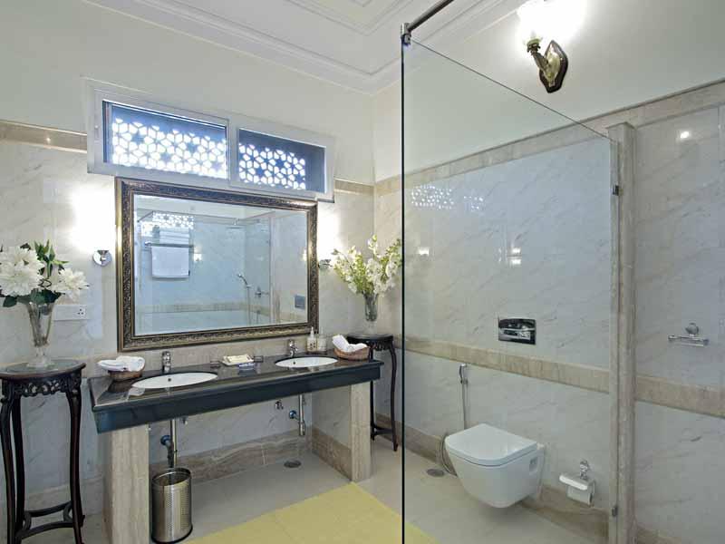 Badezimmer © Hotel Khas Bag Jaipur