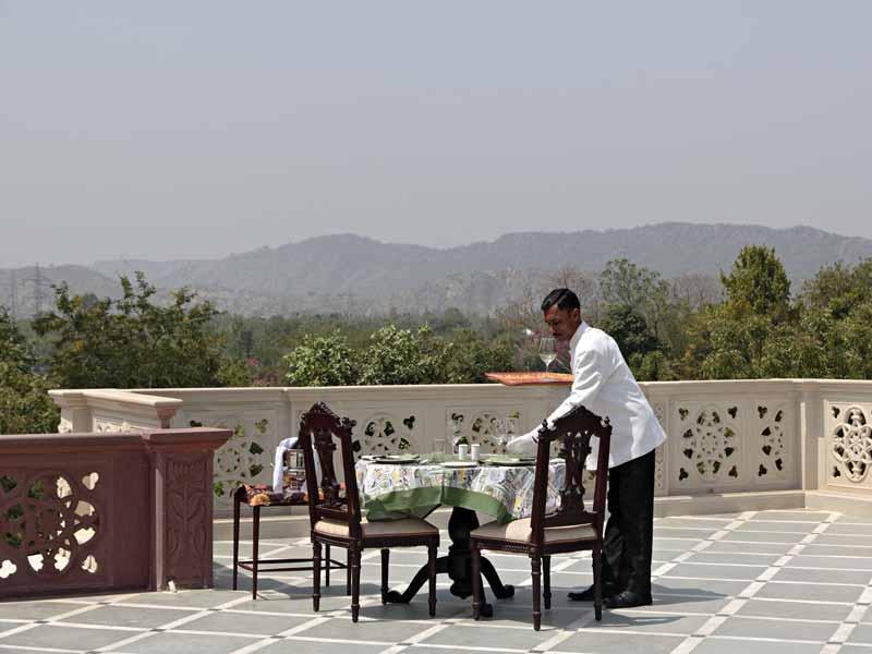 Terrasse © Hotel Khas Bag Jaipur